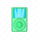 audio, cartoon, display, mp3, music, player, portable icon