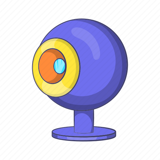 camera, cartoon, conference, lens, technology, video, webcam icon