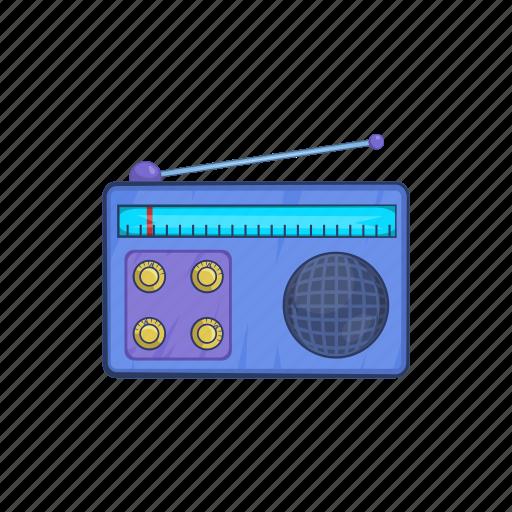 audio, broadcast, cartoon, music, radio, retro, sound icon