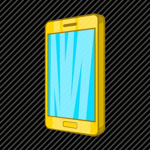 cartoon, communication, gadget, modern, phone, smartphone, telephone icon