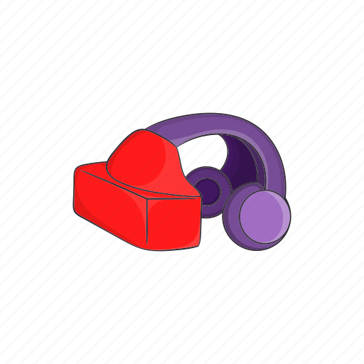 cartoon, device, glass, headset, reality, virtual, vr icon