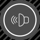 audio, loud, sound, speaker icon