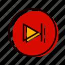 forward, music, next, player icon