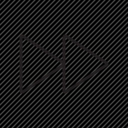 arrow, double right, forward, multimedia, next, player icon