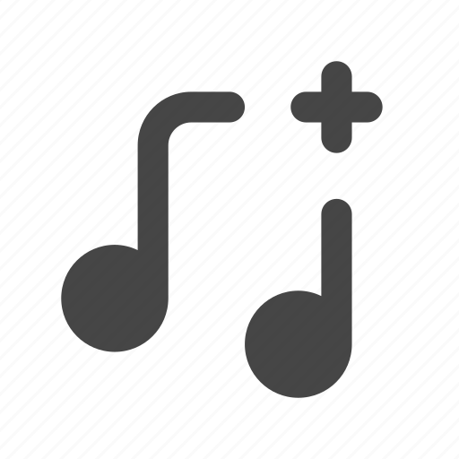 Add, music, playlist, song, track, multimedia, ui icon - Download on Iconfinder