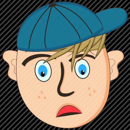 avatar, character, emoji, emoticon, emotion, face, sad icon