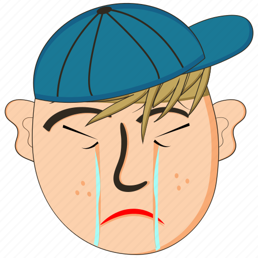 avatar, character, emoji, emoticon, emotion, face, sad icon