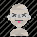 annoying, avatar, emoji, halloween, horror, mummy, myth icon