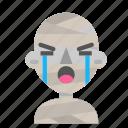 avatar, crying, emoji, halloween, horror, mummy, myth icon