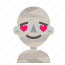 avatar, emoji, halloween, horror, love, mummy, myth icon