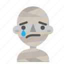 avatar, emoji, halloween, horror, mummy, myth, sad icon