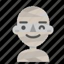 avatar, emoji, halloween, horror, mummy, myth, wink icon