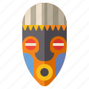 african, art, mask, museum icon