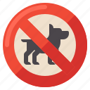 allowed, dogs, no, sign icon