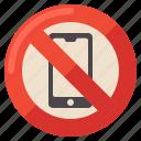 no, phone, sign