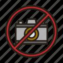 camera, forbidden, no, prohibited icon