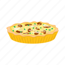 cooking, delicacy, food, meal, mushroom, pie icon