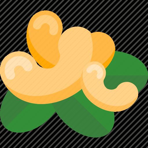 food, mushrooms, nuts, sheet icon