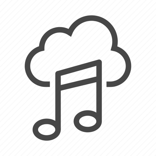 audio, cloud, media, multimedia, music, play, sound icon