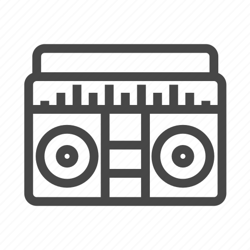 audio, boombox, cassette player, media, music, sound, speaker icon