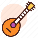 banjo, instrument, play, sing, song icon