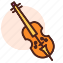 cello, instrument, play, sing, song icon