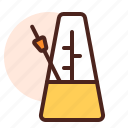 instrument, metronome, play, sing, song icon