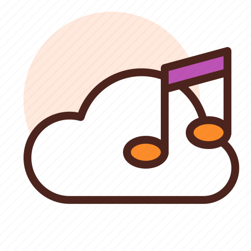 Cloud, instrument, music, play, sing, song icon - Download on Iconfinder
