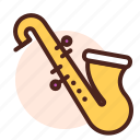 instrument, play, saxofone, sing, song