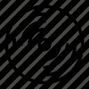 disc, music, sound icon