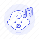 baby, double, genre, lullaby, music, note, pacifier, playlist