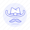 country, cowboy, genre, hat, moustache, music icon