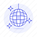ball, dance, disco, genre, music, shine, spinning icon