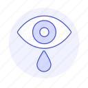 eye, genre, melancholic, mood, music, sad, tear icon