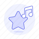 double, favorite, favourite, genre, hit, hot, music, note, playlist icon
