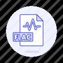 audio, digital, file, flac, format, music, sound, wave icon
