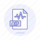 aif, audio, digital, file, format, music, sound, wav, wave icon