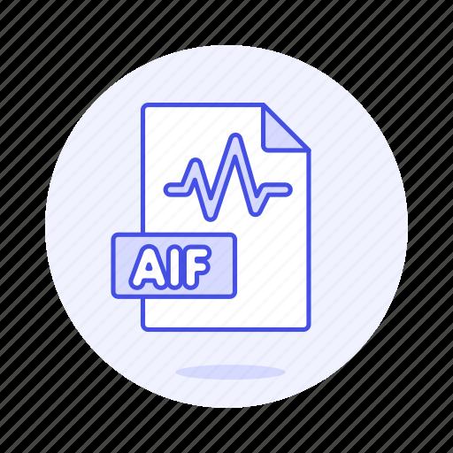 aif, audio, digital, file, format, music, sound, wav, wave icon