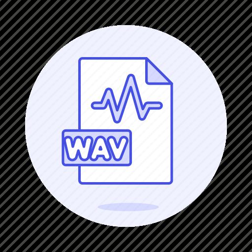 audio, digital, file, format, music, sound, wav, wave icon