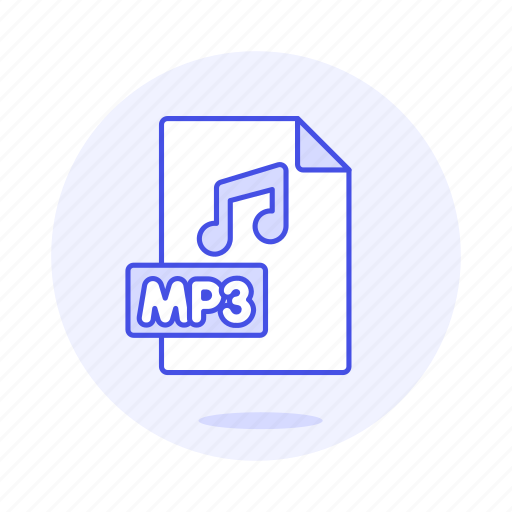 Audio, digital, file, format, mp3, music, note icon - Download on Iconfinder