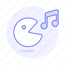 double, game, gaming, genre, music, note, pacman, playist, retro icon