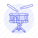 drum, drumstick, snare, music, side, instruments, percussion, field icon