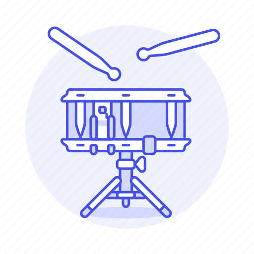 3, drum, drumstick, field, instruments, music, percussion, side, snare icon