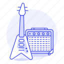 amplifier, electric, guitar, instruments, music, plucked, string, style, v icon