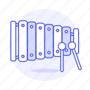 instruments, mallets, music, percussion, xylophone icon