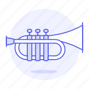 brass, instruments, music, trumpet, wind