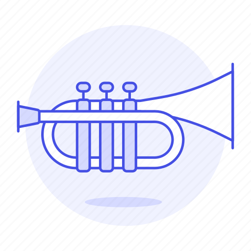 brass, instruments, music, trumpet, wind icon