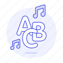 abc, double, educational, genre, kid, kids, music, note, playlist, song icon