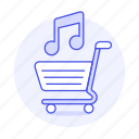 bar, business, cart, double, music, note, song, track