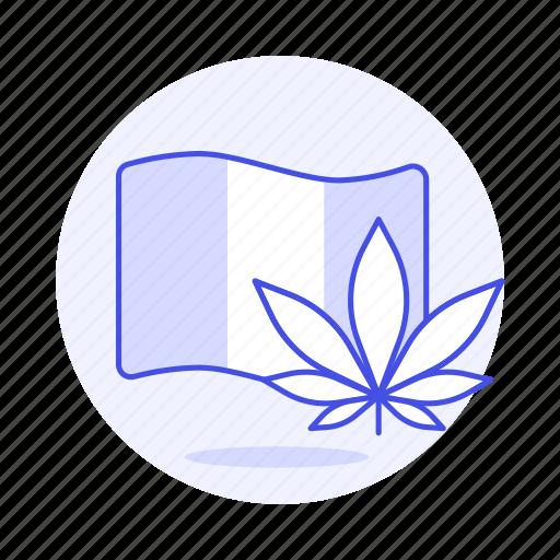 2, cannabis, flag, genre, leaf, music, rasta, reggae, weed icon